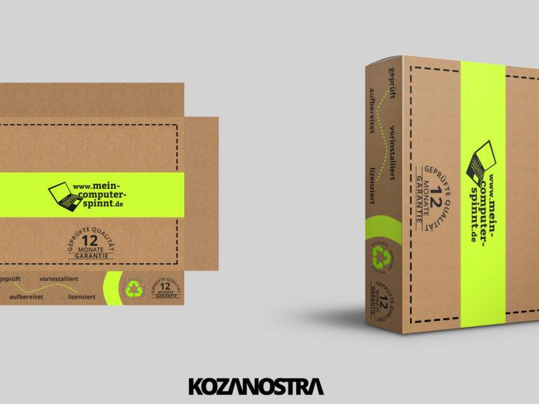 Verpackungsdesign für Notebooks